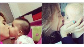 Cinthia Fernández se sacó una dulce foto con su hija y le mandó un mensaje a Tinelli