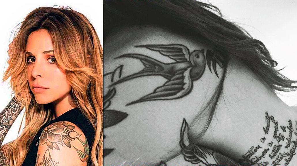 El secreto del misterioso tatuaje de Candelaria Tinelli