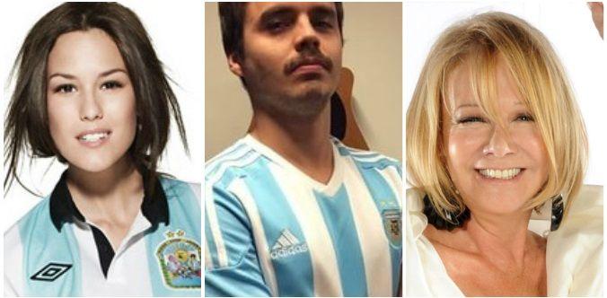 Argentina - Uruguay: : los famosos le hacen el aguante a la Selección