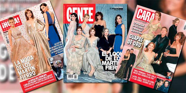 Las tapas de revista: toda la moda de los Martín Fierro; Marcelo Tinelli, Adrián Suar y las Guapas, los grandes premiados