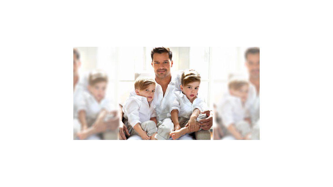 La emotiva carta de Ricky Martin a sus mellizos:Me dieron la fuerza para vivir una vida honesta