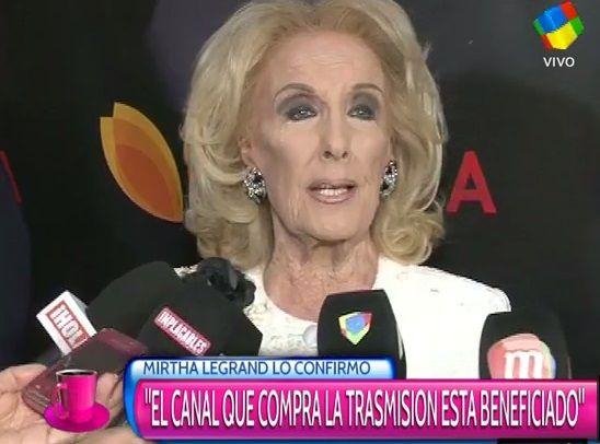 Mirtha Legrand contra los Martin Fierro: Siempre el que compra la transmisión se lleva los premios