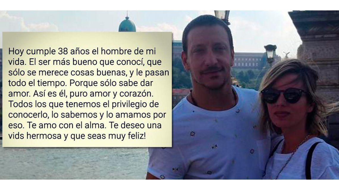 El romántico mensaje de Gimena Accardi a Nicolás Vázquez por su cumpleaños