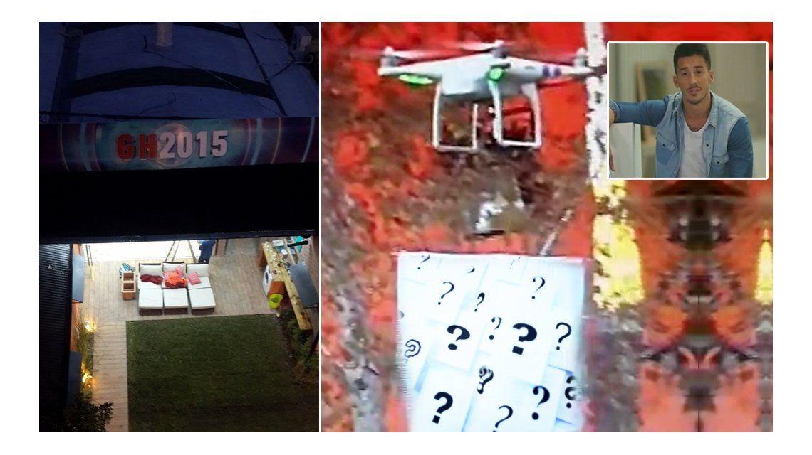 Entró un drone a la casa de Gran Hermano con un polémico mensaje a un participante