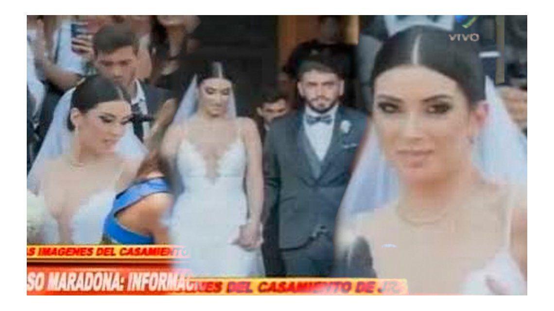 Las imágenes del casamiento de Diego Maradona Jr.