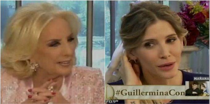 Mirtha Legrand y una pregunta sin filtro a Guillermina Valdés: ¿Vos te separaste de verdad?