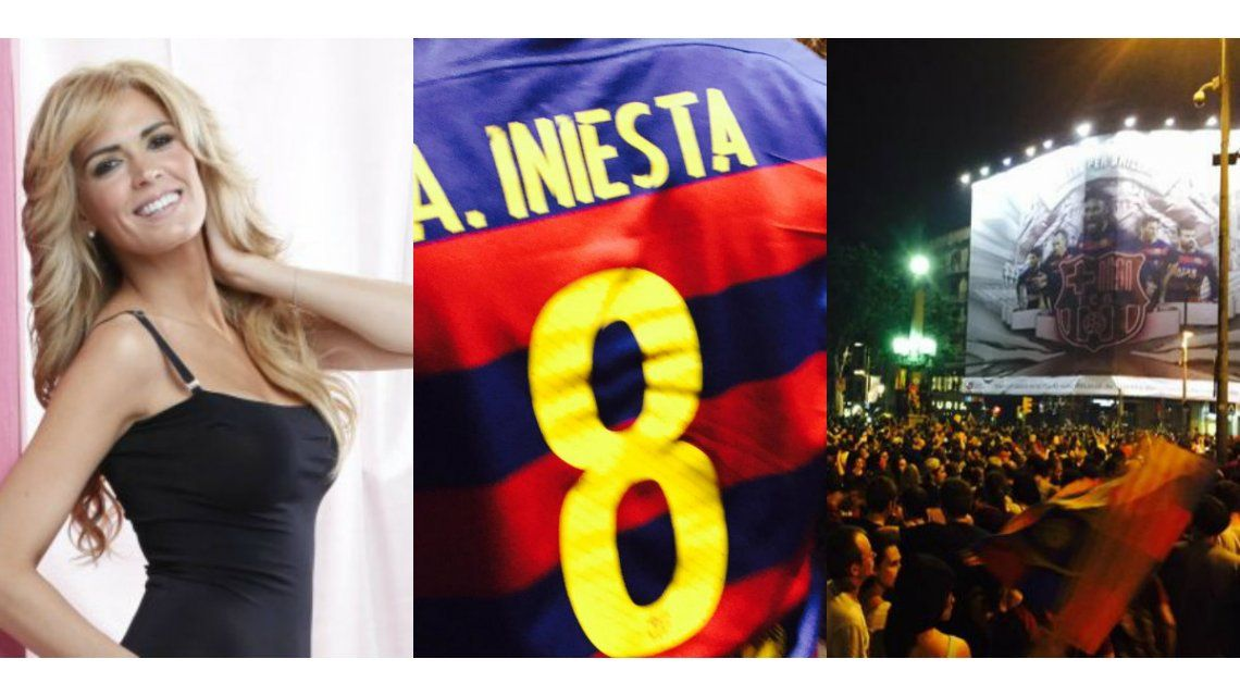 Los festejos en primera persona: las fotos de Viviana Canosa desde Barcelona