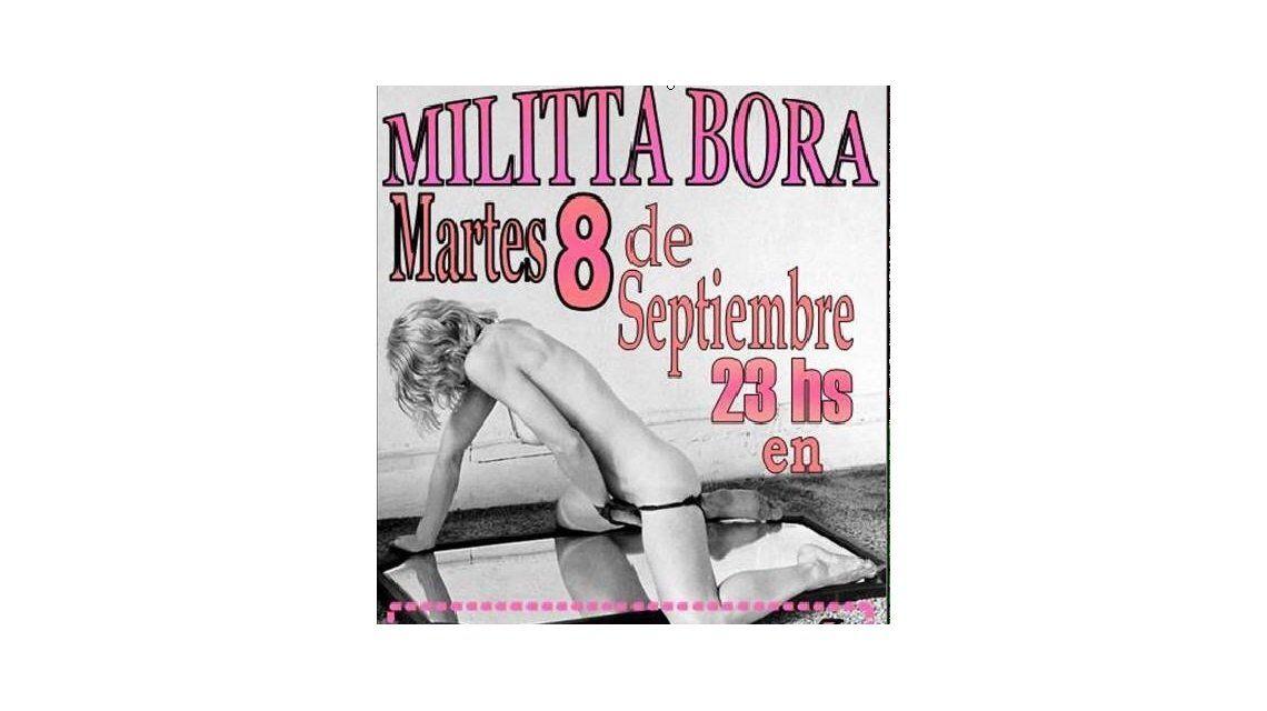 El provocativo afiche de la novia de Daniel Osvaldo, Militta Bora