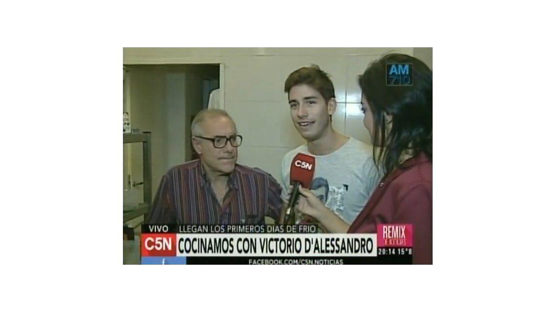 Fito Yanelli y Victorio D´Alessandro cocinaron en vivo en C5N