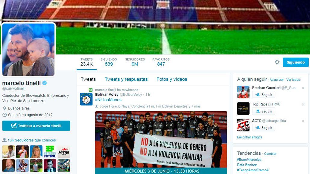 Marcelo Tinelli llegó a los 6 millones de seguidores en Twitter: mirá su reacción en la red social