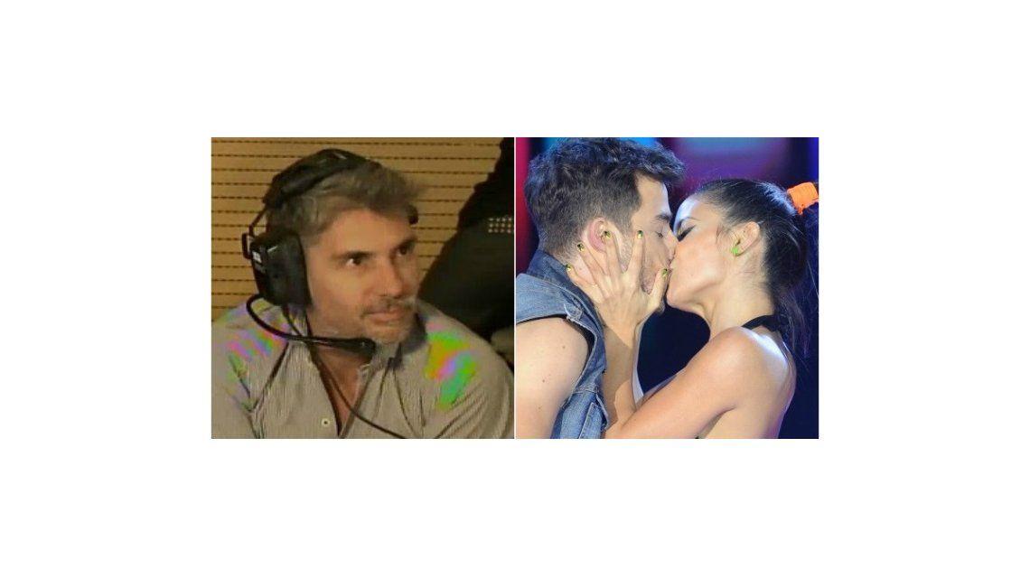 Gran beso entre Lourdes Sánchez y Fernando Dente en la cumbia en frente del Chato Prada: ¡su reacción!