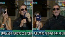 Después del cero, Burlando se enojó y abandonó el móvil de Este es el show
