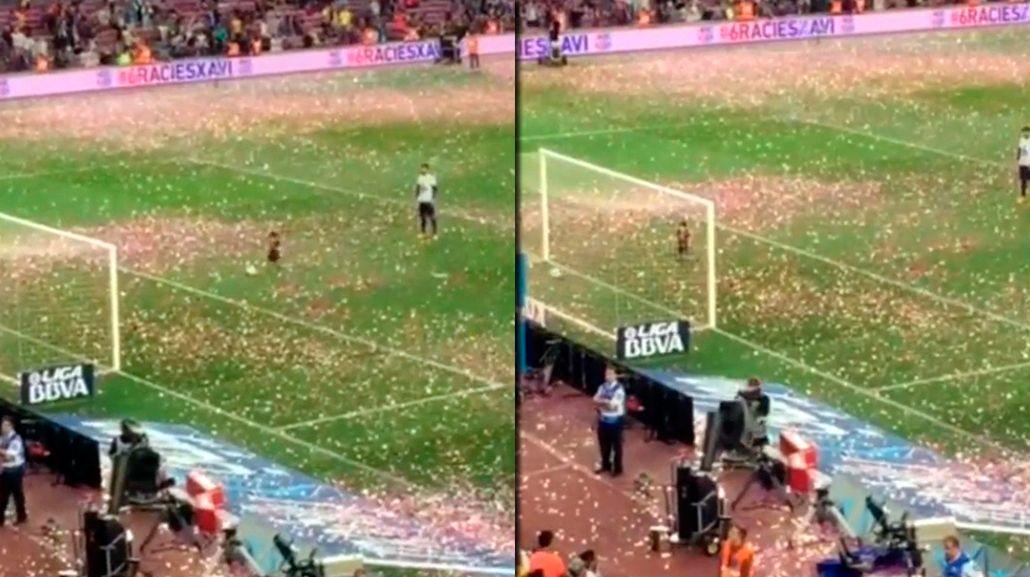 ¿Será mejor que el padre? El primer gol del hijo de Shakira y Piqué en el Camp Nou