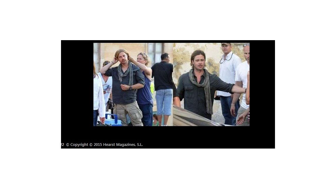 Las fotos de las estrellas de cine y sus dobles en acción