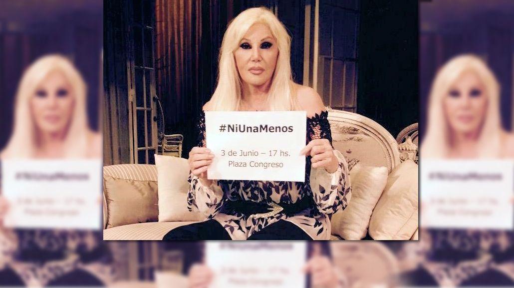 Susana Giménez se sumó a la campaña #NiUnaMenos