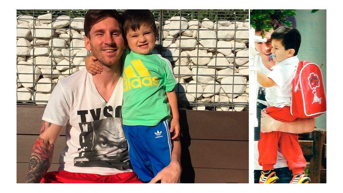 Lionel Messi, papá full time con Thiago: Jugando con mi gordito hermoso