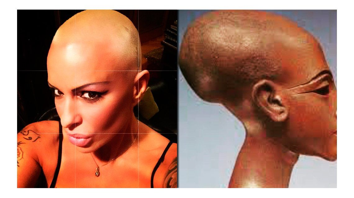 El radical cambio de look de Daniela Cardone: se rapó al estilo faraón egipcio