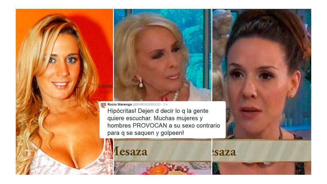 Insólito apoyo de Rocío Marengo a Mirtha Legrand: Muchas mujeres provocan para que las golpeen