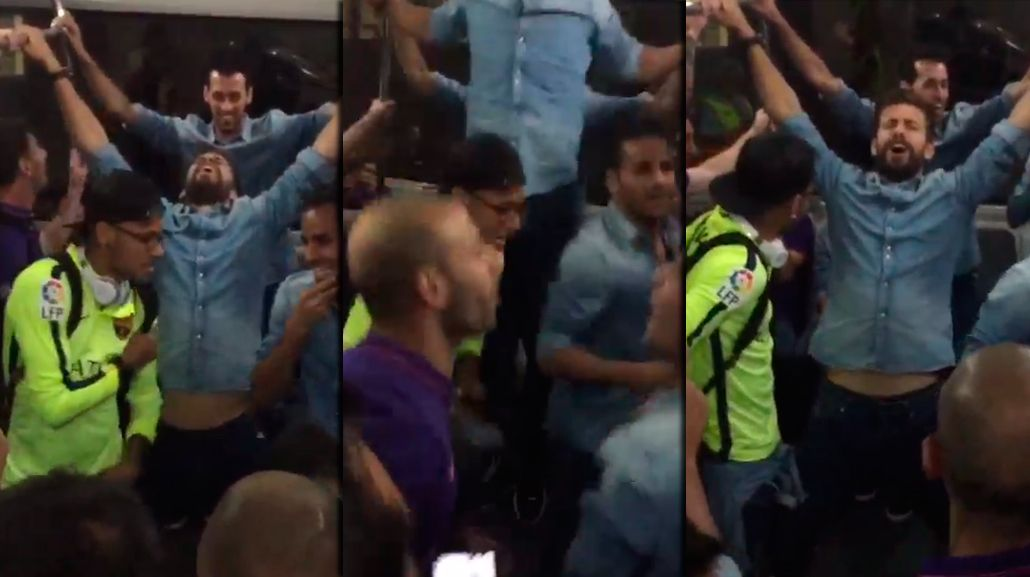 La terrible euforia de Piqué por el título de Barcelona y la romántica dedicatoria de Shakira