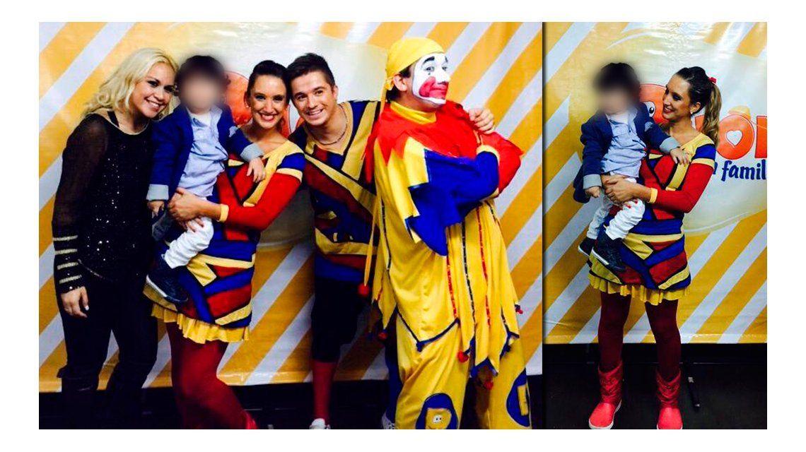 Verónica Ojeda desafía la cautelar de Diego: fue a ver a Piñon Fijo y mostró a su hijo a los medios