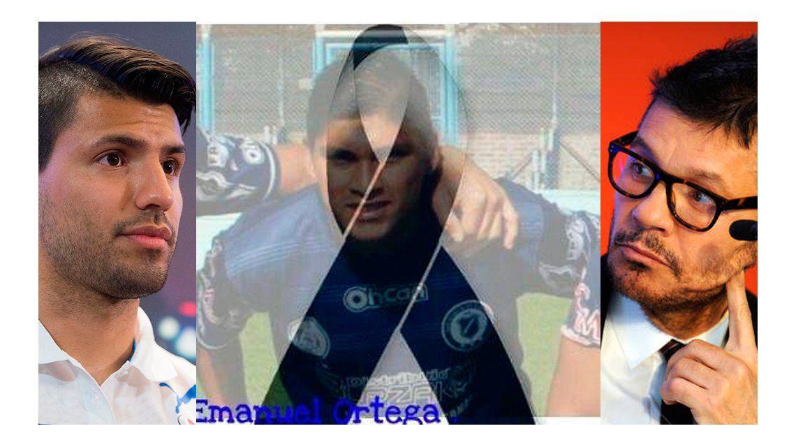 Los sentidos mensajes del Kun Agüero y Tinelli por la muerte del futbolista Emanuel Ortega