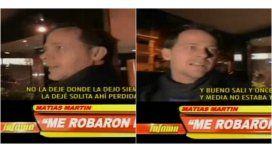 La denuncia policial de Matías Martín después del robo de su moto: Me quería matar