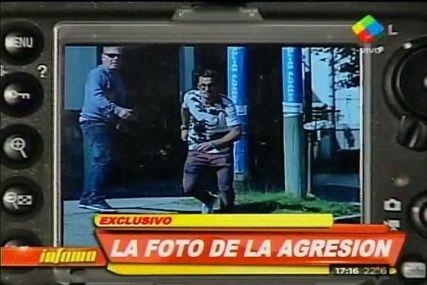 La foto de Daniel Osvaldo enajenado antes de agredir a un fotógrafo