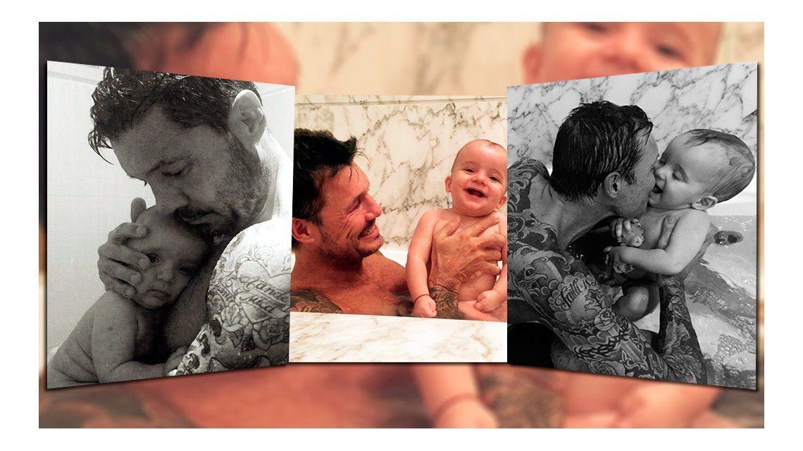 Las tiernas fotos de Marcelo Tinelli con su hijo Lorenzo: Me lo morfo