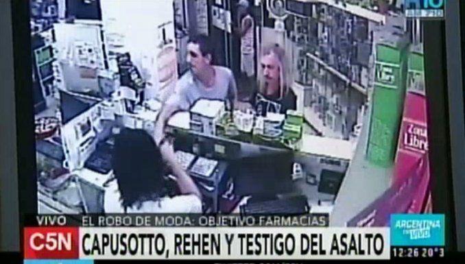Diego Capusotto fue testigo de un robo a una farmacia: el impactante video