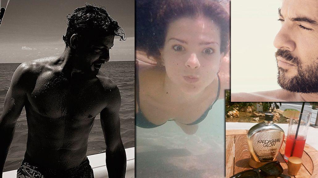 Las vacaciones en el  Caribe de la China Suárez y David Bisbal: fotos hot en la playa