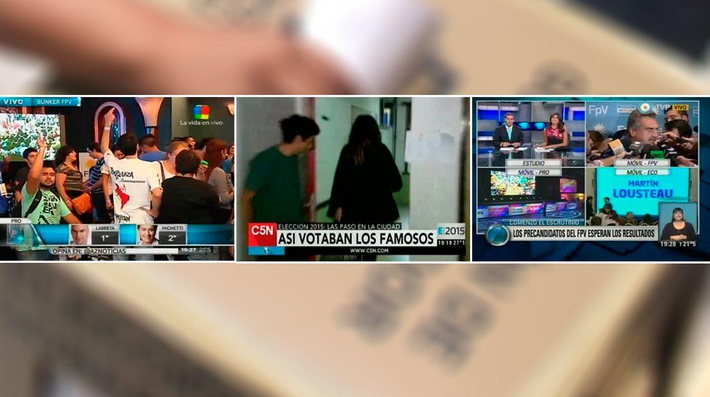 La cobertura de las PASO cambió la agenda del domingo televisivo