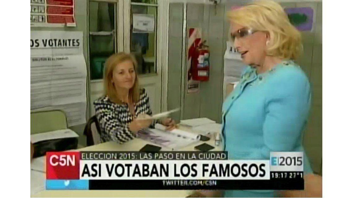 El voto de Mirtha Legrand, cantado en televisión