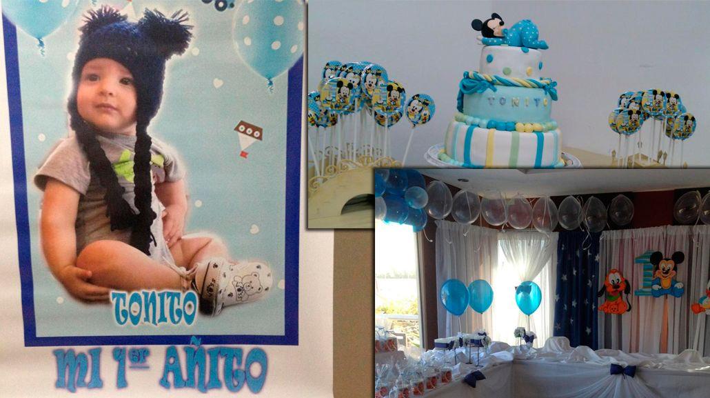 Las fotos y el video del primer cumple de Antonito, el hijo de Fabiana Liuzzi y Luis Ventura