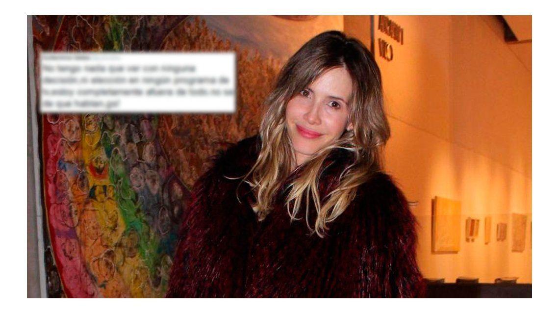 Guillermina Valdes y un contundente tuit: ¿por la baja de Coki Ramírez del Bailando?