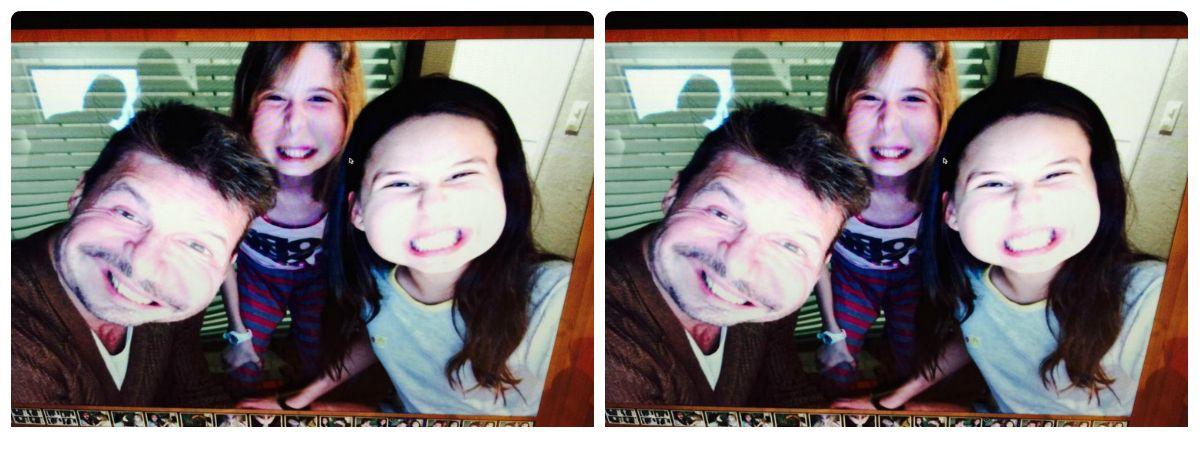 Mañana a pura selfie de Marcelo Tinelli con Juanita y Paloma, hija de Guillermina Valdes