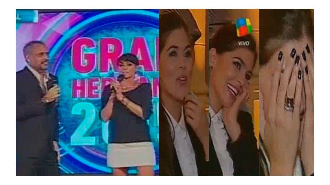 Show de gestos de Loly Antoniale en el lanzamiento de GH: ¿qué dijo Rial sobre el casamiento en 2015?