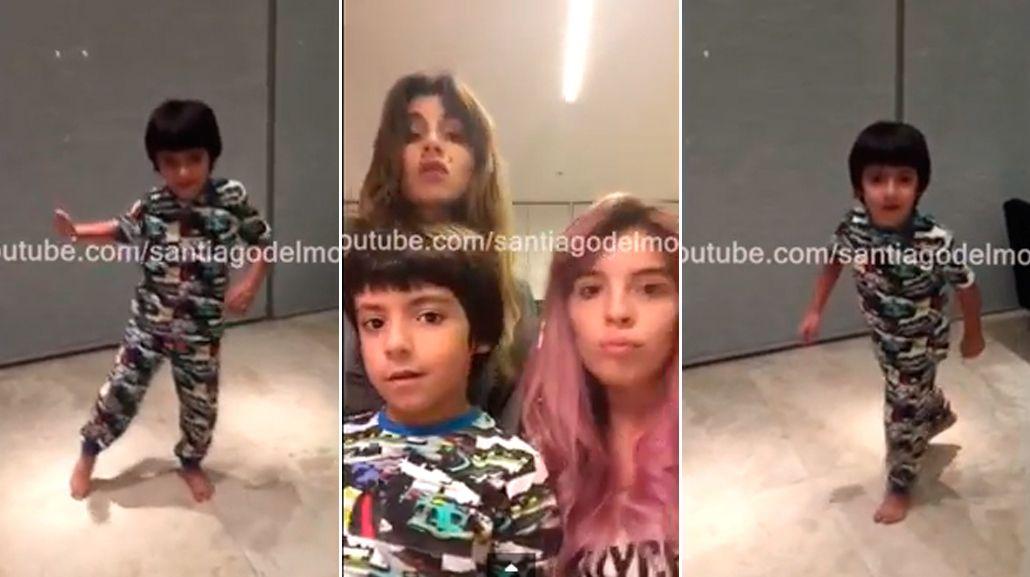 Benjamín Agüero, al ritmo de la hija de Santiago del Moro: furor en Internet