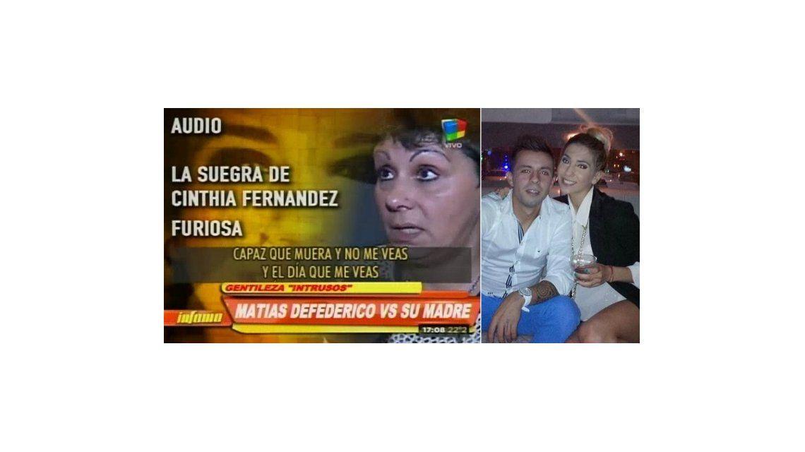 La furia de la mamá de Matías Defederico, que critica a Cinthia Fernández: Viven en un rancho lleno de mugre