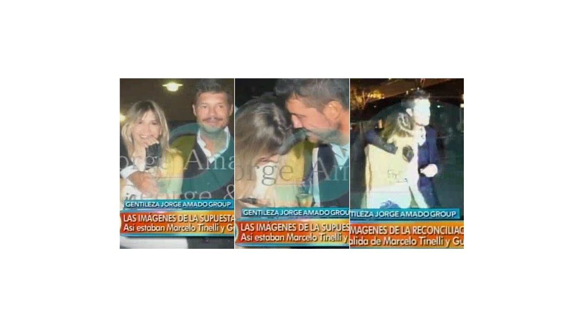 Las imágenes de la reconciliación de Marcelo Tinelli y Guillermina Valdes