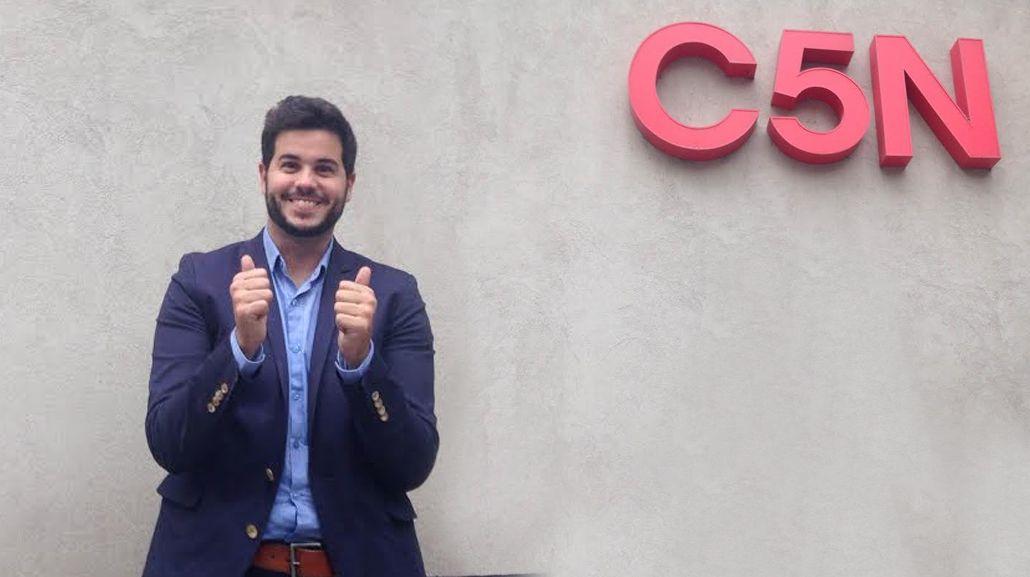 Nicolás Magaldi regresa a C5N: Vuelvo a mi casa