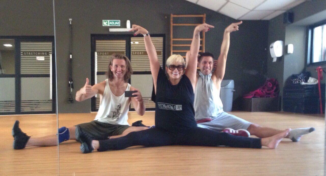 Carmen Barbieri se prepara full time para el Bailando: el divertido ensayo con su bailarín
