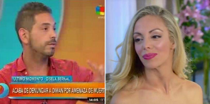 Bernal denunció a Ariel Diwan por amenazas de muerte y él a la televisión: El hijo no es mío