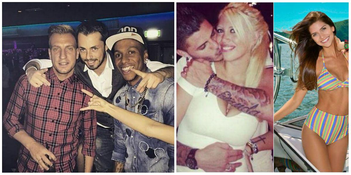 Wanda, en el medio del escándalo de Icardi y Zaira; Maxi López de fiesta en las noches italianas
