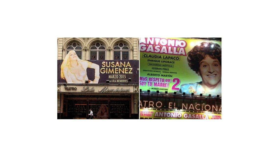 Susana Giménez y Antonio Gasalla lideran la taquilla porteña