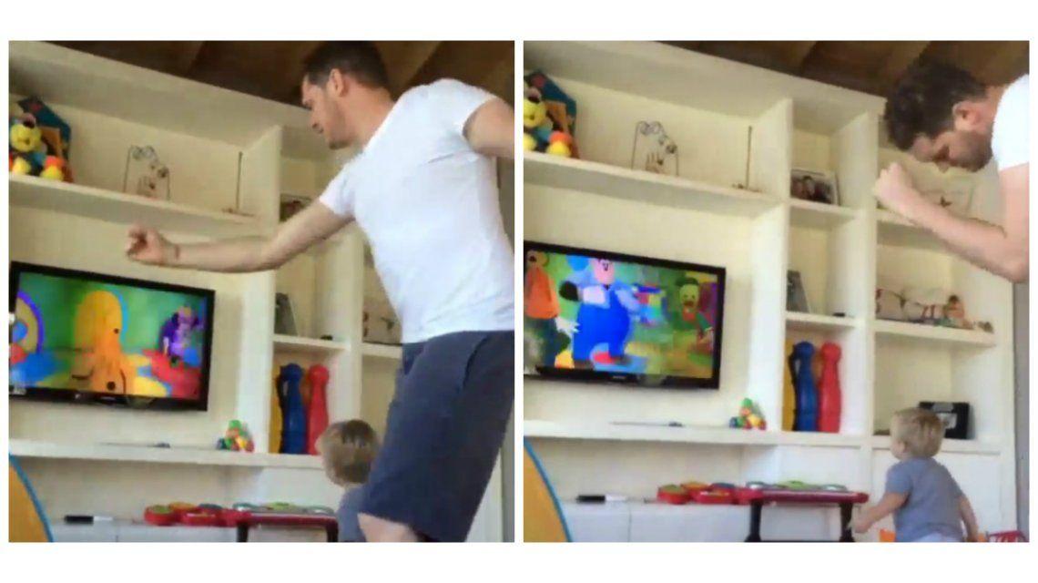 El divertido baile de Michael Bublé y Noah, el hijo de Luisana Lopilato