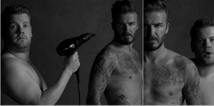 La divertida parodia de David Beckham de sus publicidades con calzoncillos y otro hombre