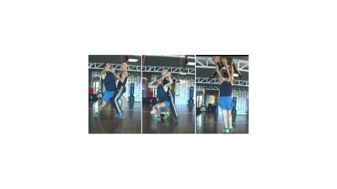 El complicado ensayo de Ojeda para el Bailando: la revolean por el aire en falsa escuadra
