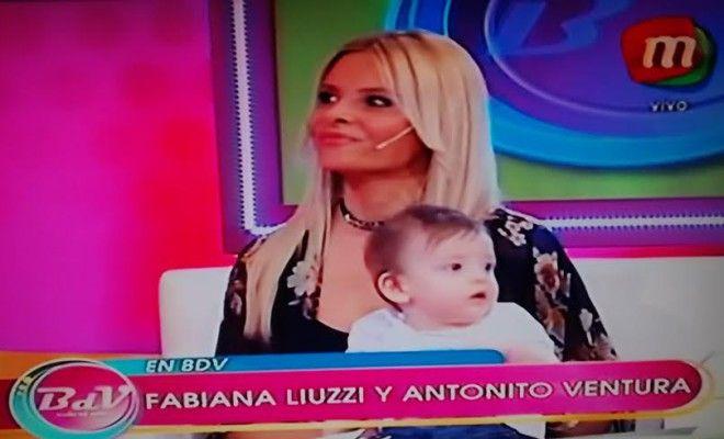 Por primera vez, Fabiana Liuzzi llevó a la tele a su hijo: La imagen de Ventura está en el sótano