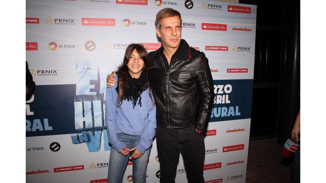 Martín Redrado llevó a la hija de Amalia Granata a ver La Era de Hielo On Ice