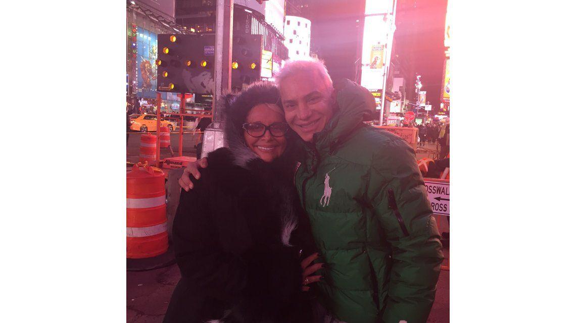 El encuentro de Carmen Barbieri y Flavio Mendoza en Nueva York